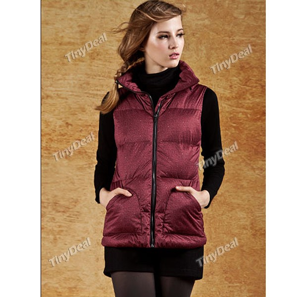 CJELLY) Winter Autumn Clothing Slim Skinny Women Vest Down Coat with